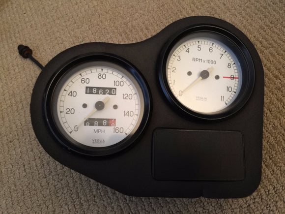 Ducati 900 SS White Face Gauges & Dash