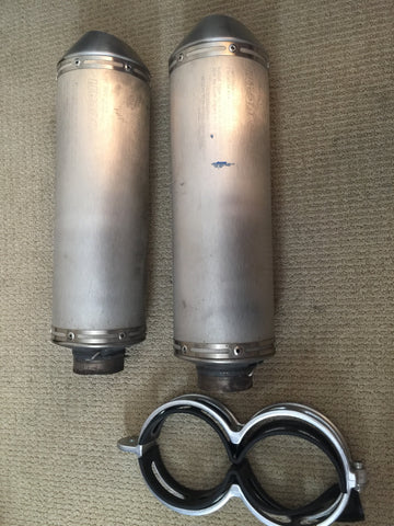 Ducati 1098 Silencers with Clamps