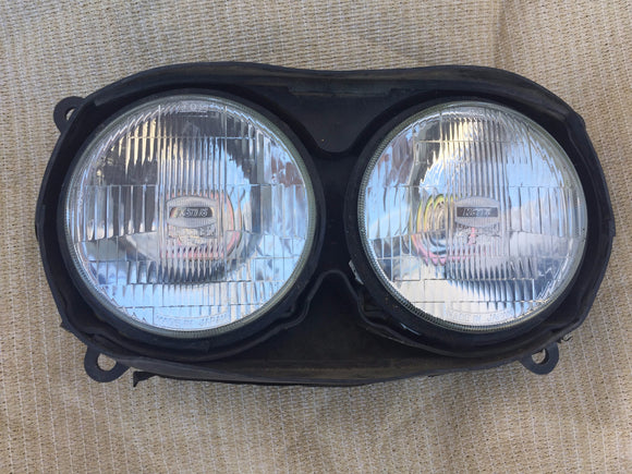 Dual Head Lamp Set with Wiring Boots for European & Japanese Bikes