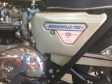 "1977 Triumph 750 Bonnevile ""Silver Jubilee"", Unit 0001 of 1000"