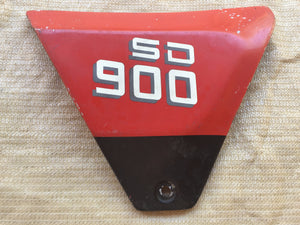 Ducati 900 SD RH Red/Highlighted Letters Side Cover