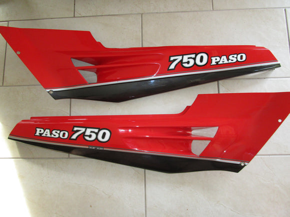 Ducati Paso 750 OEM Rear Side Panels, #DM037099891