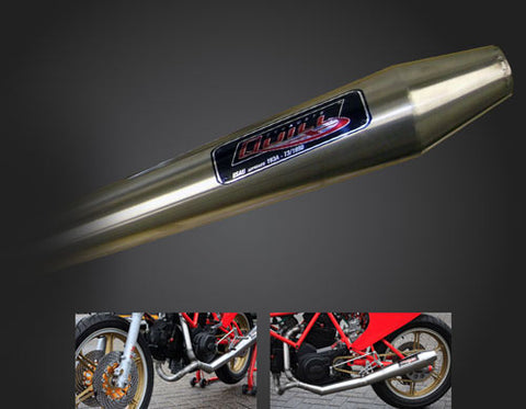 Ducati TT/Pantah Racer Exhaust System by Quill Exhausts