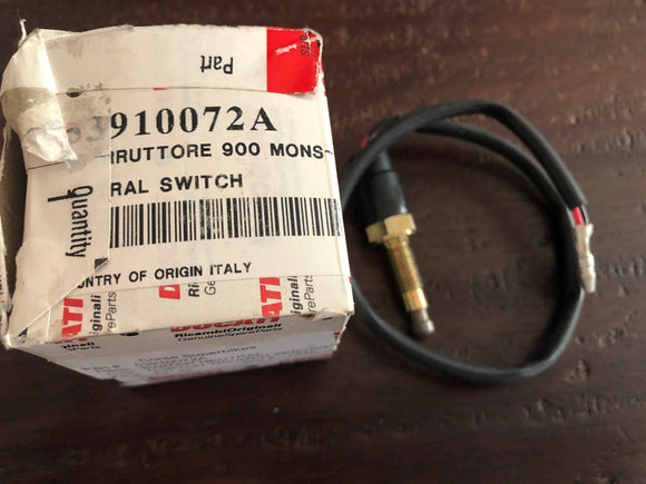 Ducati NOS Neutral Switch for Ducati 916-851 Superbikes & Monsters, #53910072A
