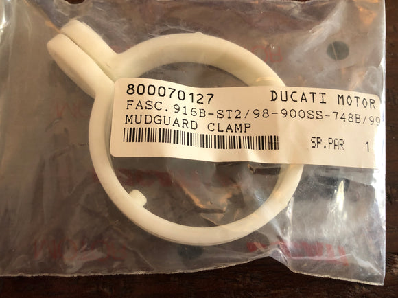 Ducati NOS 47.4 mm Mudguard Clamp for Superbikes & Supersports, #800070127