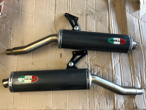 Ducati Exhaust Muffler Set by Fast by Ferracci for 900ss and 888/851