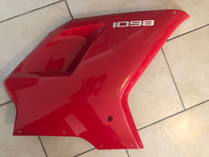 Ducati 1098 OEM Red Upper Fairing Panel, #48032293A