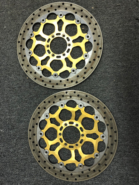 Brembo 320 mm Floating Front Brake Rotor Set for Ducati 996 Superbikes & Derivatives