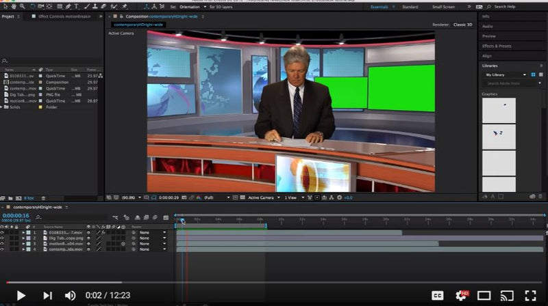 New HD Virtual News Desk Tutorial