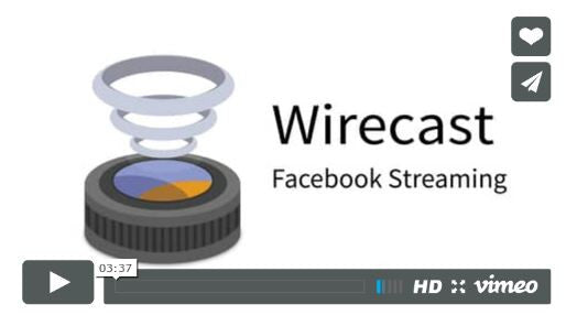 3, 2, 1 and....we're live - stream to facebook live with Wirecast