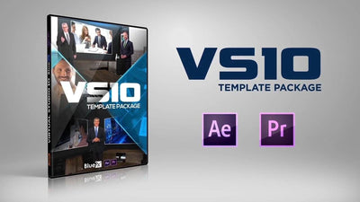 Virtual News Set 10 After Effects and Premiere Pro Template by BlueFX - Virtual Set Lab