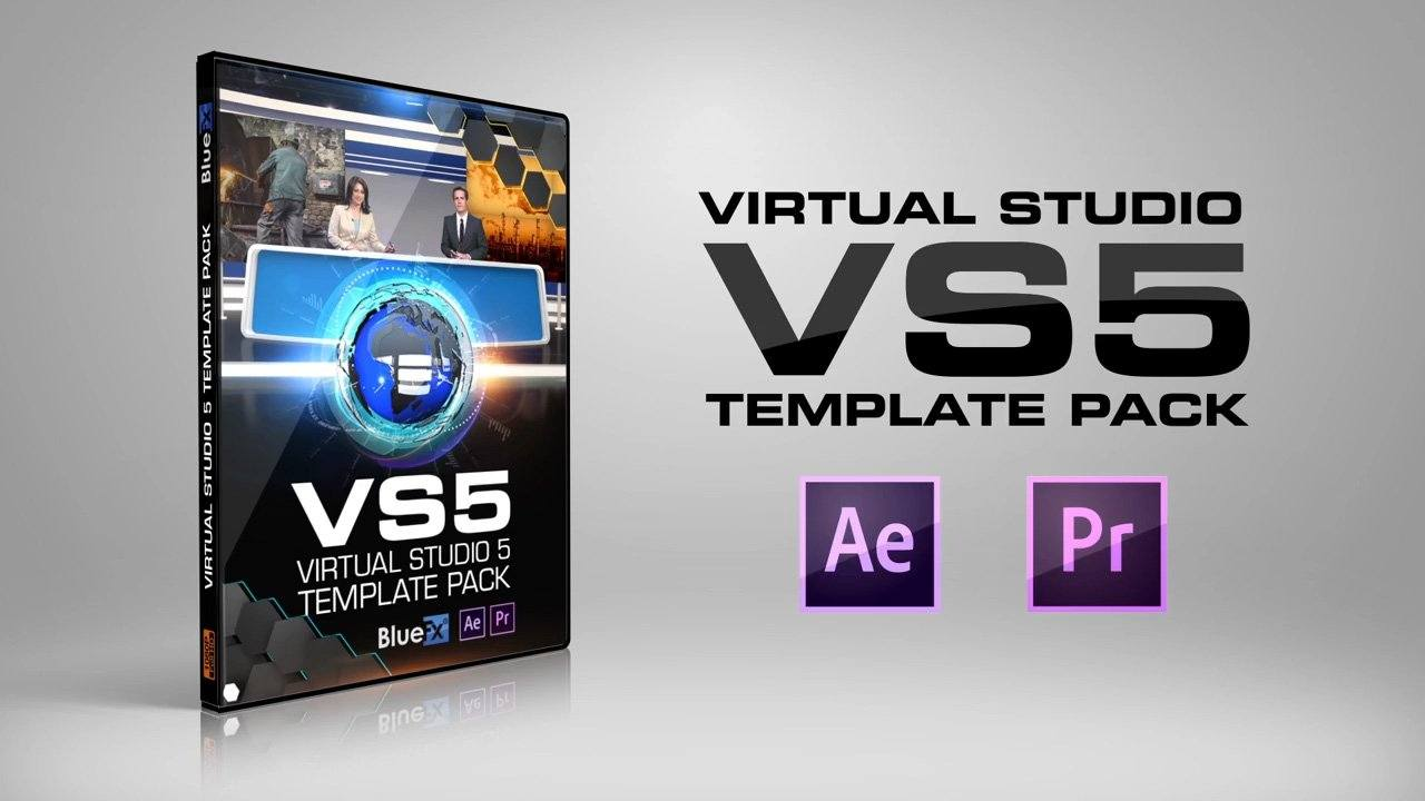 Virtual News Set 5 After Effects and Premiere Pro Template by ...