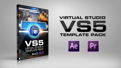 Virtual News Set 5 After Effects and Premiere Pro Template by BlueFX - Virtual Set Lab