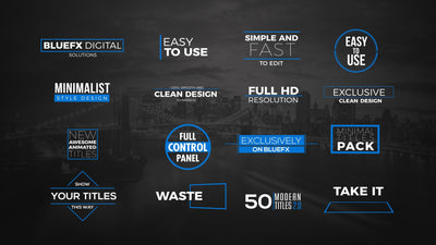 50 Modern Titles V2 After Effects Template by BlueFX - Virtual Set Lab