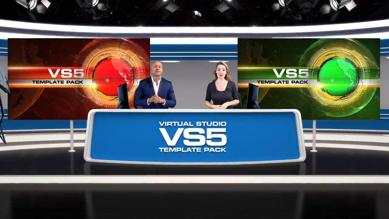 Virtual News Set 5 After Effects and Premiere Pro Template by BlueFX