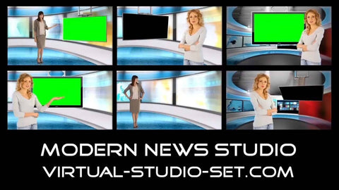 Modern News Virtual Set [All Angles 1 - 4]