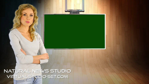 Natural News Virtual Set [All Angles]