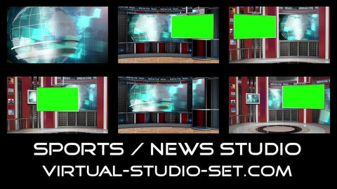 Sports / News Virtual Set [All Angles 1 - 3]