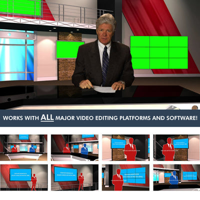 Virtual News Set 12 [All Angles 1 -6]