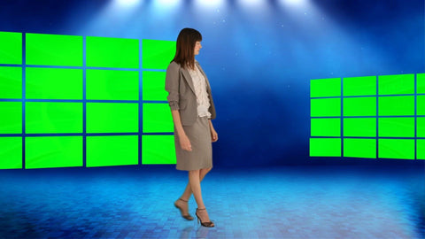 Virtual News Set 11 [All Angles]