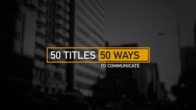 50 Modern Titles and Lower Thirds by BlueFX - Virtual Set Lab