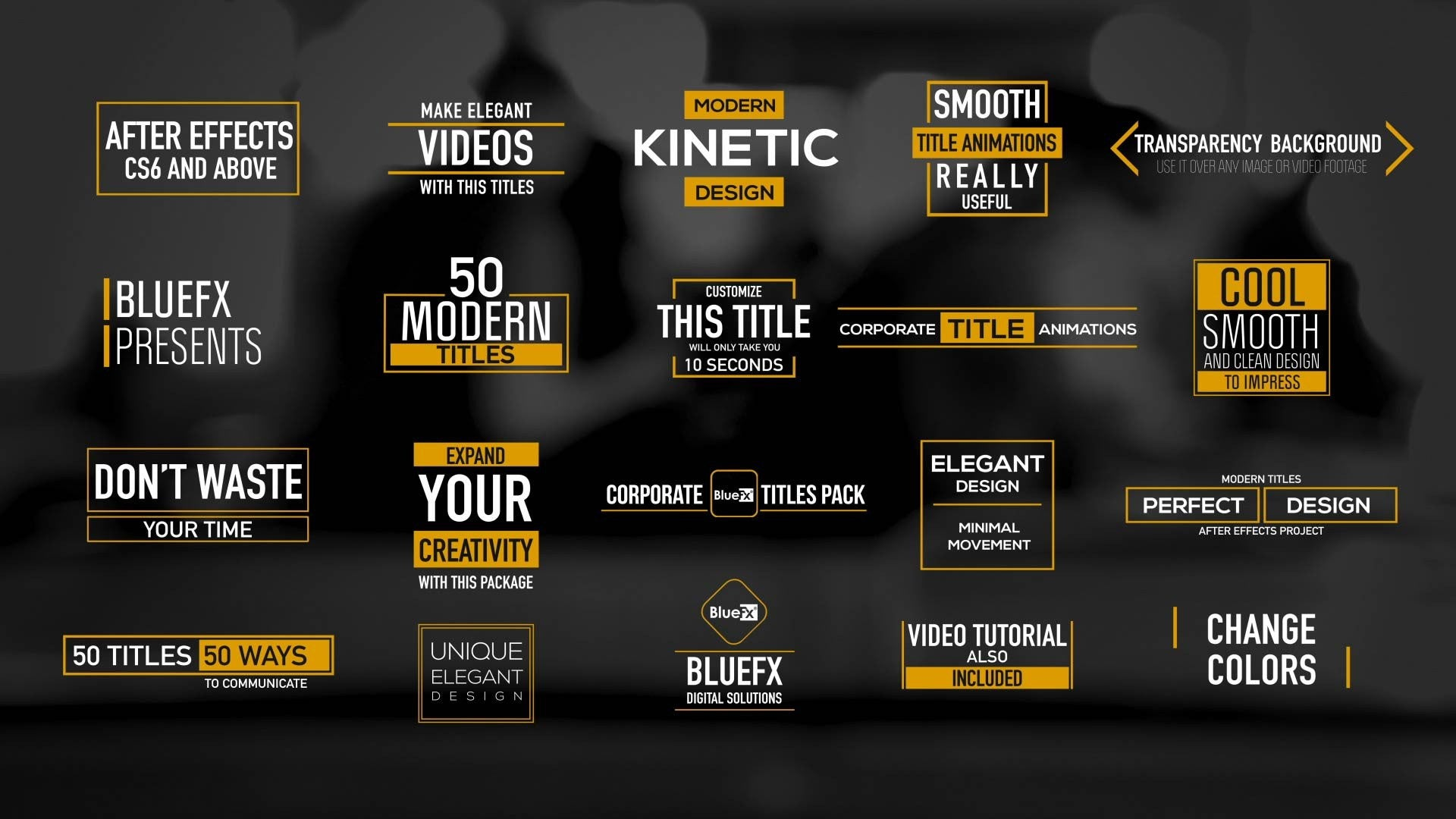 50 modern titles and lower thirds by bluefx virtual set lab for Adobe after effects title templates free