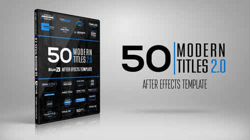 50 Modern Titles V2 After Effects Template by BlueFX
