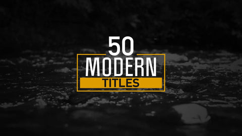 50 Modern Titles and Lower Thirds by BlueFX