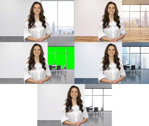 Office Loft Virtual Set Presentation Pack