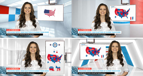 US Election Night HD / 4K Virtual Set Pack!