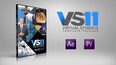Virtual News Set 11 After Effects and Premiere Pro Template by BlueFX - Virtual Set Lab