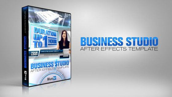 Business Virtual Set News After Effects Template by BlueFX