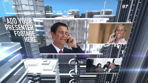 Business Virtual Set News After Effects Template by BlueFX - Virtual Set Lab