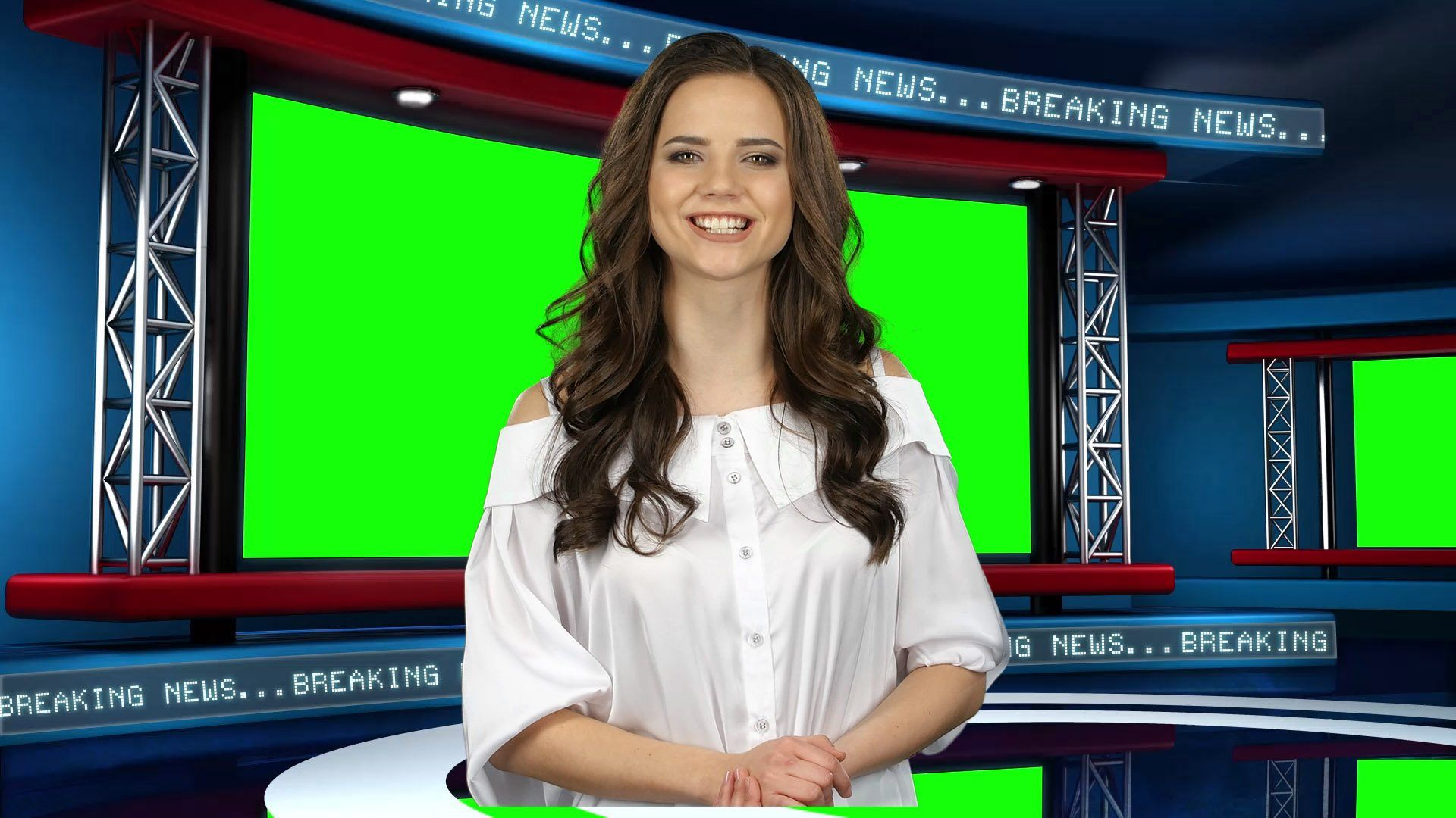 Global News Virtual Studio Set [ANGLE 2]