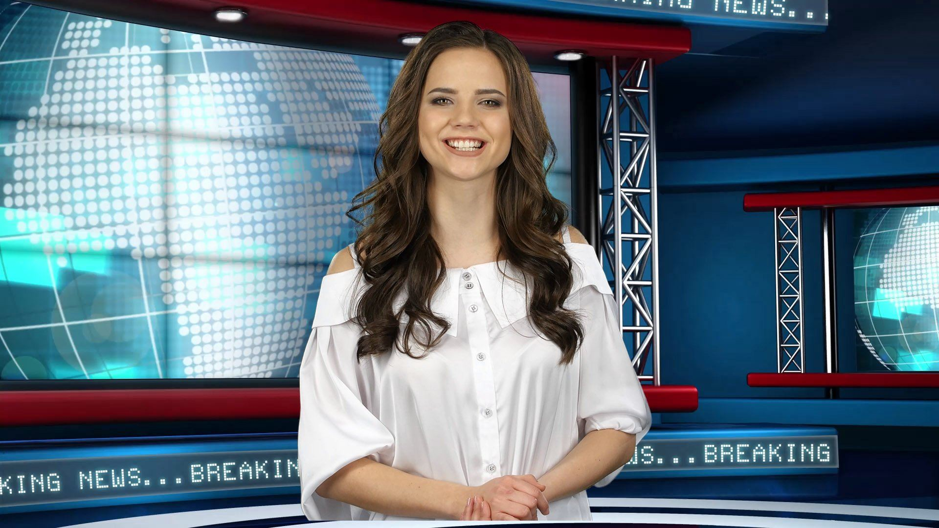 Global News Virtual Studio Set [ANGLE 3]