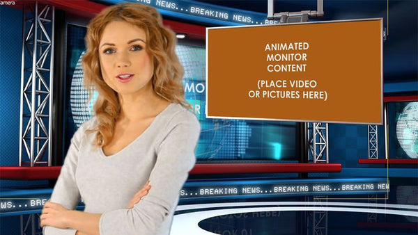 Global News Virtual Studio Set -