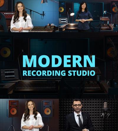Modern Recording Studio HD / 4K Virtual Set - Virtual Set Lab