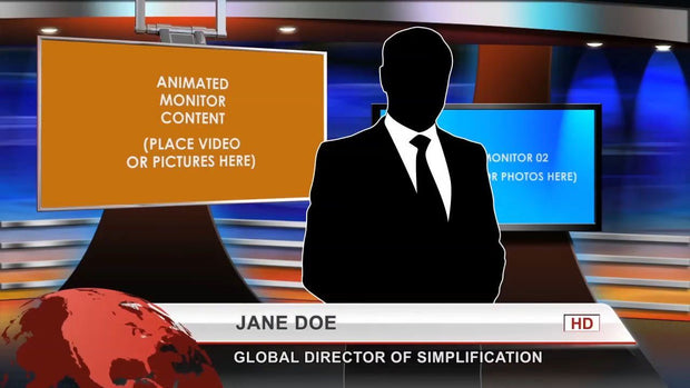 Virtual-Studio-Set 1 After Effects Template