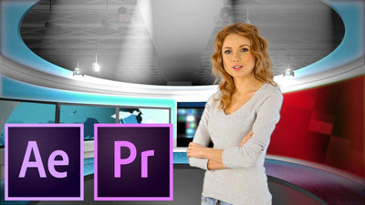 Studio Pack 1 After Effects & Premiere Template - Virtual Set Lab