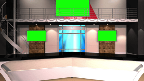 Virtual News Set 12 Single Set [ANGLE 3]