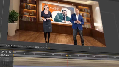 BFX Virtual News Set 7 for After Effects and Premiere Pro - Virtual Set Lab