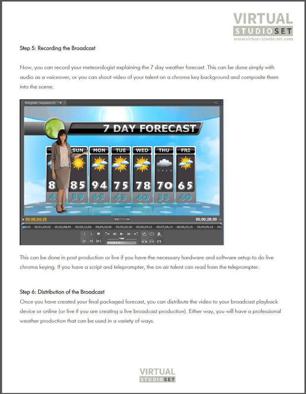 Free Teacher Weather Forecast / Motion Graphics Lesson Plan - Virtual Set Lab
