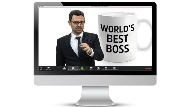 World's Best Boss Zoom / Online Meeting Virtual Background - Virtual Set Lab
