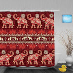 Red Elephant Shower Curtain
