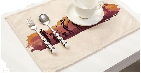 African Landscape Place Mats (Set of 4)