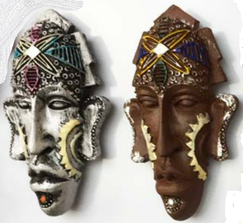 African Mask Refrigerator Magnets Set