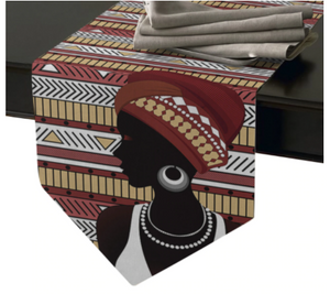 African Queen Geometric Table Runner