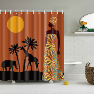 African Queen Landscape Shower Curtain