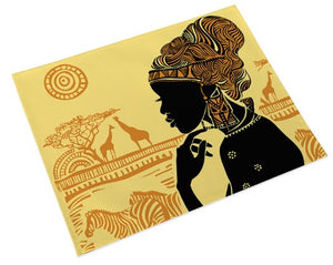 African Queen Place Mats - Black/Gold (Set of 4)