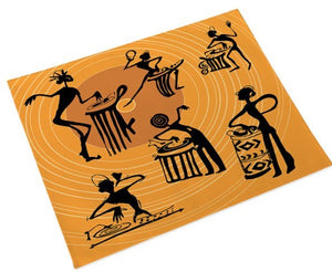 Tribe Musicians Place Mats - Gold (Set of 4)